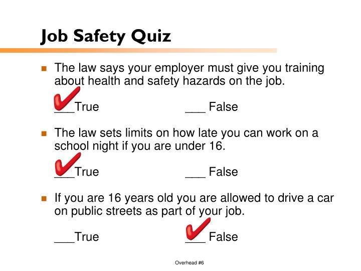 Job Safety Quiz