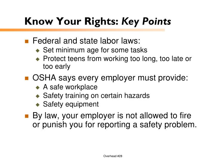 Know Your Rights: