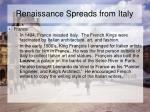 renaissance spreads from italy