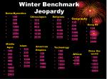 winter benchmark jeopardy