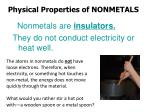 physical properties of nonmetals1