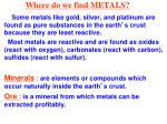 where do we find metals