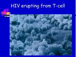 hiv erupting from t cell