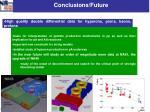 conclusions future