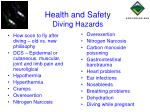health and safety diving hazards