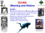 scuba meaning and history