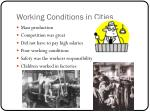 working conditions in cities