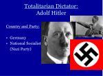 totalitarian dictator adolf hitler