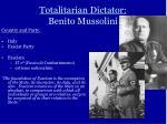 totalitarian dictator benito mussolini