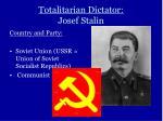 totalitarian dictator josef stalin