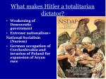 what makes hitler a totalitarian dictator1
