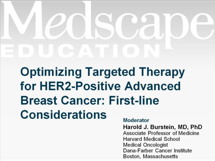 optimizing targeted therapy for her2 positive advanced breast cancer first line considerations n.