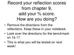 record your reflection scores from chapter 9 add your score how are you doing