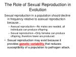 the role of sexual reproduction in evolution