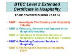 btec level 2 extended certificate in hospitality