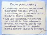 know your agency1