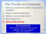 the i ll work on it proposal1