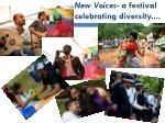 new voices a festival celebrating diversity