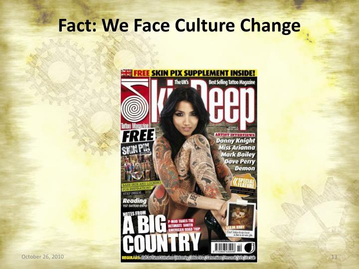 Fact: We Face Culture Change