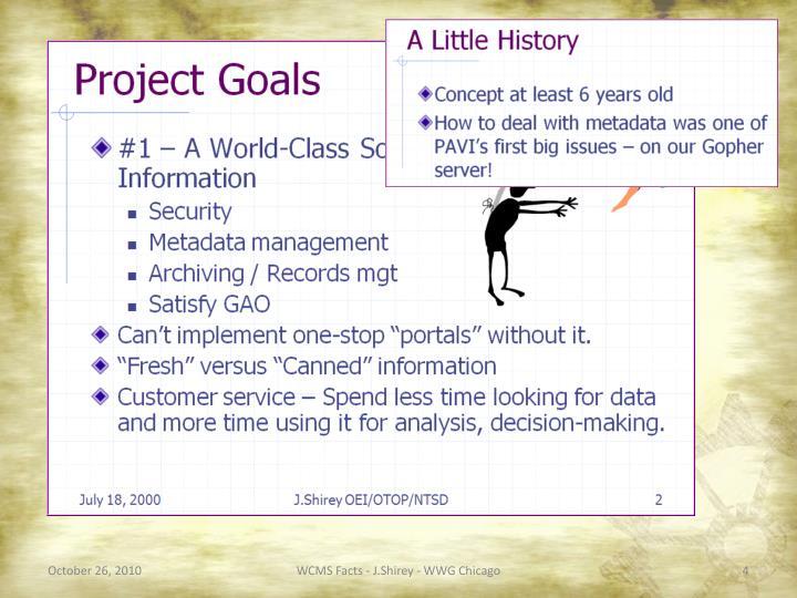 WCMS Facts - J.Shirey - WWG Chicago