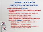 the mgmt of s korean institutional infrastructure8