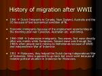 history of migration after wwii