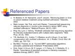 referenced papers