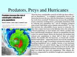 predators preys and hurricanes