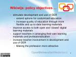 wikiwijs policy objectives