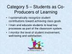 category 5 students as co producers of learning2