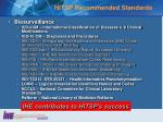 hitsp recommended standards