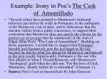 example irony in poe s the cask of amontillado
