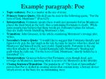 example paragraph poe