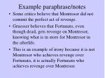 example paraphrase notes