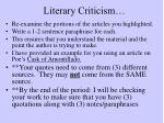 literary criticism1