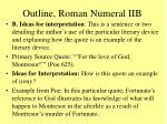 outline roman numeral iib