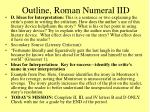 outline roman numeral iid