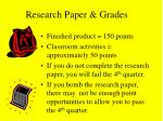 research paper grades