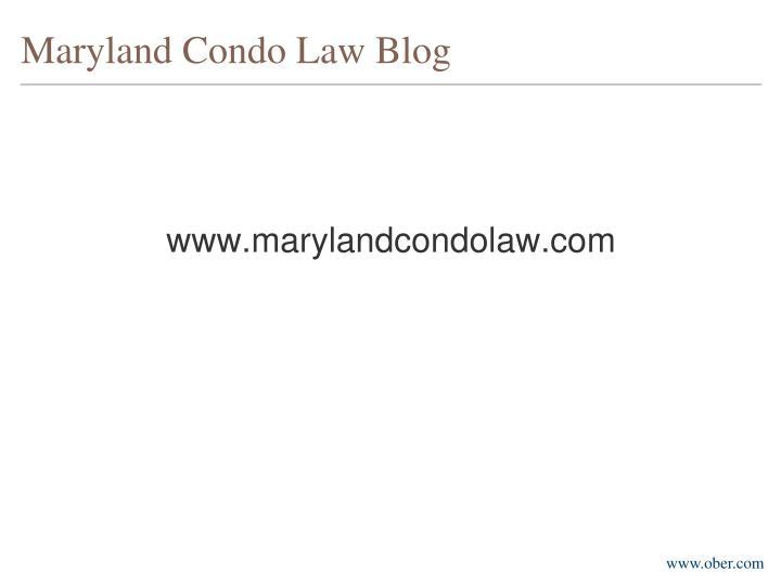 Maryland Condo Law Blog