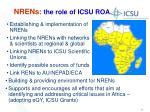 nrens the role of icsu roa