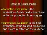 effect to cause model