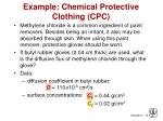 example chemical protective clothing cpc