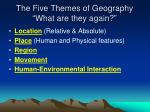 the five themes of geography what are they again