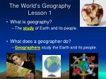 the world s geography lesson 1