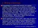 2 writing a summary