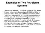 examples of two petroleum systems