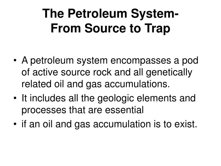 the petroleum system from source to trap n.
