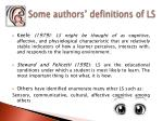 some authors definitions of ls