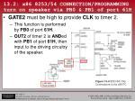 13 2 x86 8253 54 connection programming turn on speaker via pb0 pb1 of port 61h