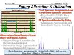 future allocation utilization